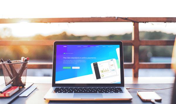 "alt=""laptop showing the website for EscapeAssist's secure payment processor Stripe, who processes all escape room bookings"""