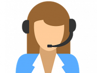 """alt=""""cartoon EscapeAssist customer service agent with headset telephone device ready to help with software queries"""""""