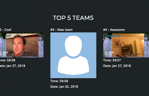 "alt=""possible horizontal layout of winning teams using EscapeAssist's customizable leaderboard app"""